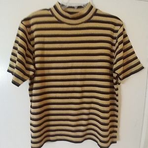 CHRISTOPHER & BANKS Fall Striped Top L